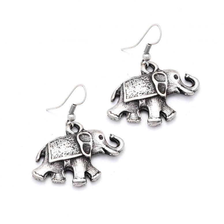 Серьги Слоны