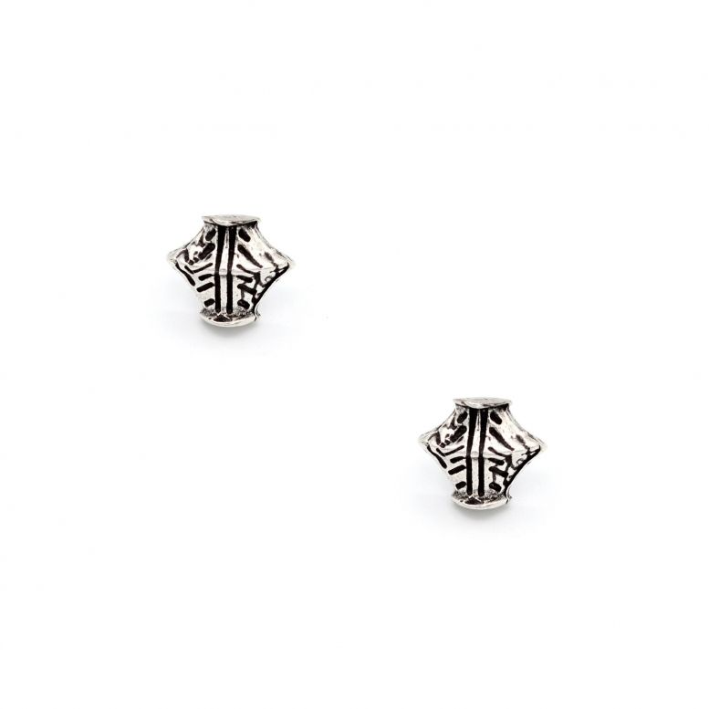 Серьги-гвоздики Кувшин, серебро
