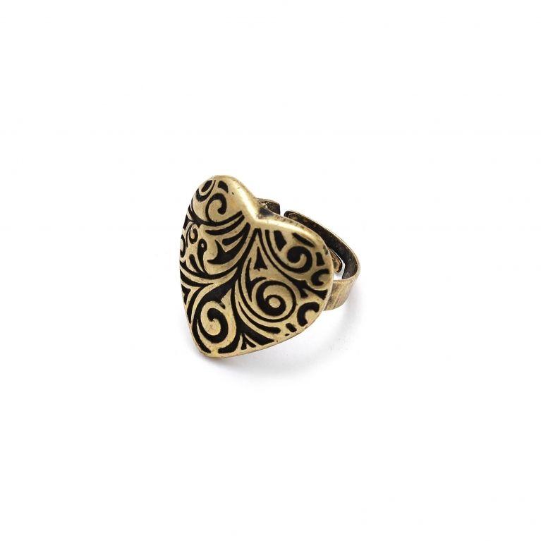 Кольцо Сердце малое (бронза)