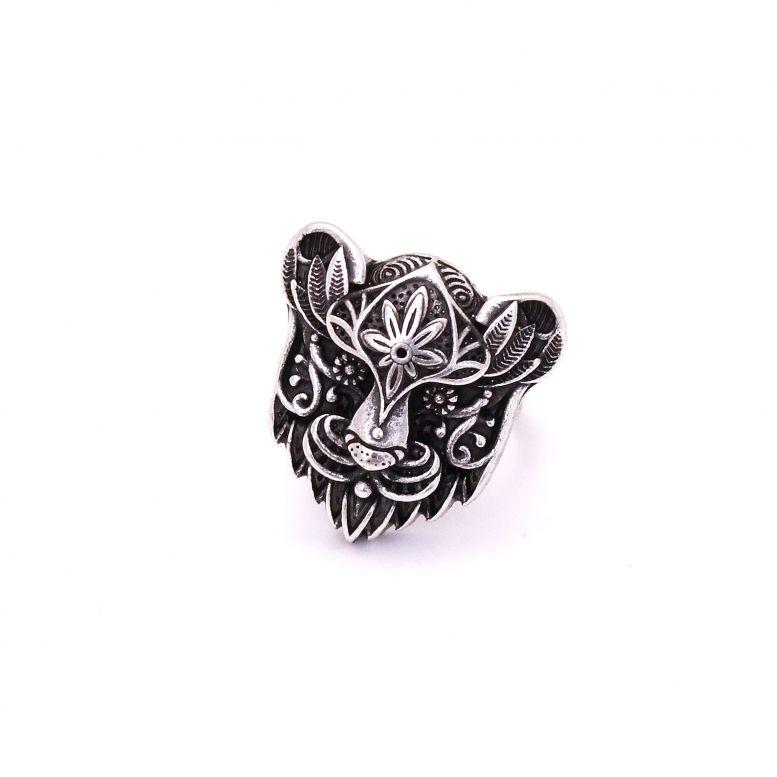Кольцо Белая пантера