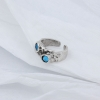 Кольцо Кратеры цвет аквамарин 17,5 р