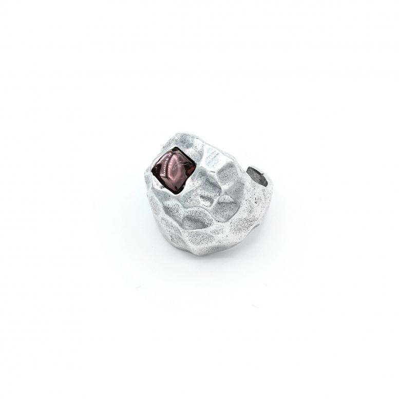 Кольцо Метеоры цвет аметист 17,5 р