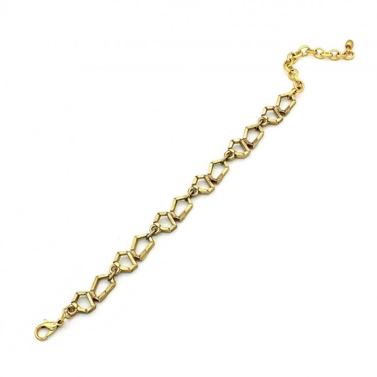 Браслет Кристалл золото