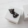 Серьги-пусеты Белая пантера