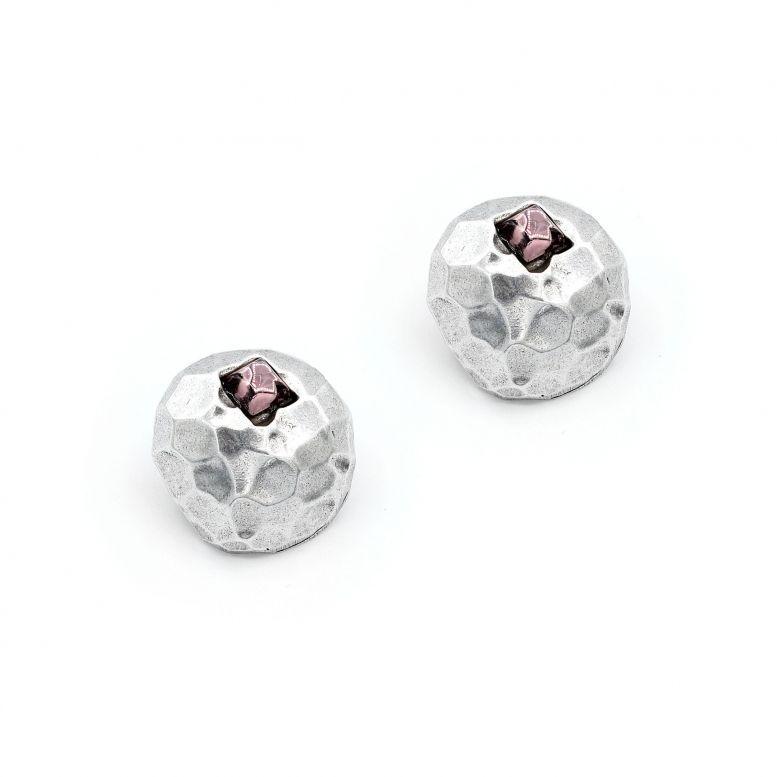 Сережки-Пусети Метеори колір аметист