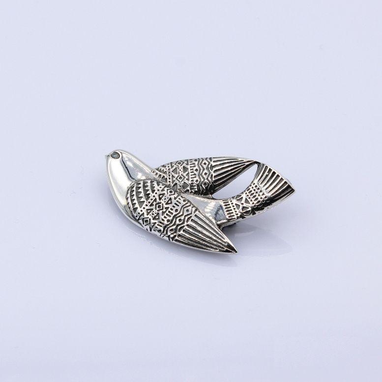 Кольцо Птаха 17р серебро