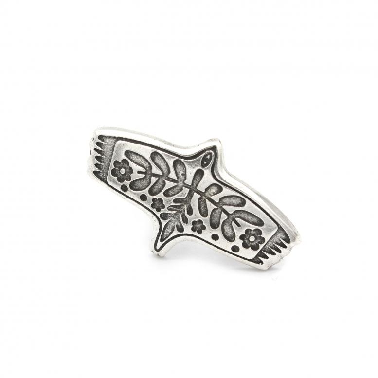 Кольцо Лелека серебро