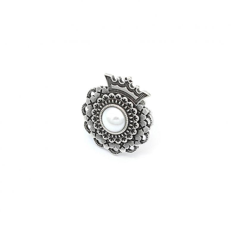 Кольцо Панагийка жемчуг
