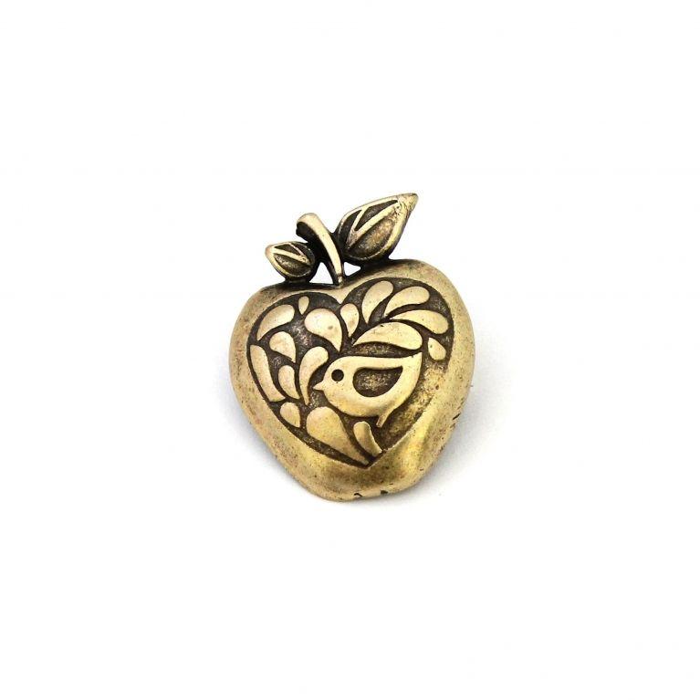 Брошь Райские яблоки (бронза)