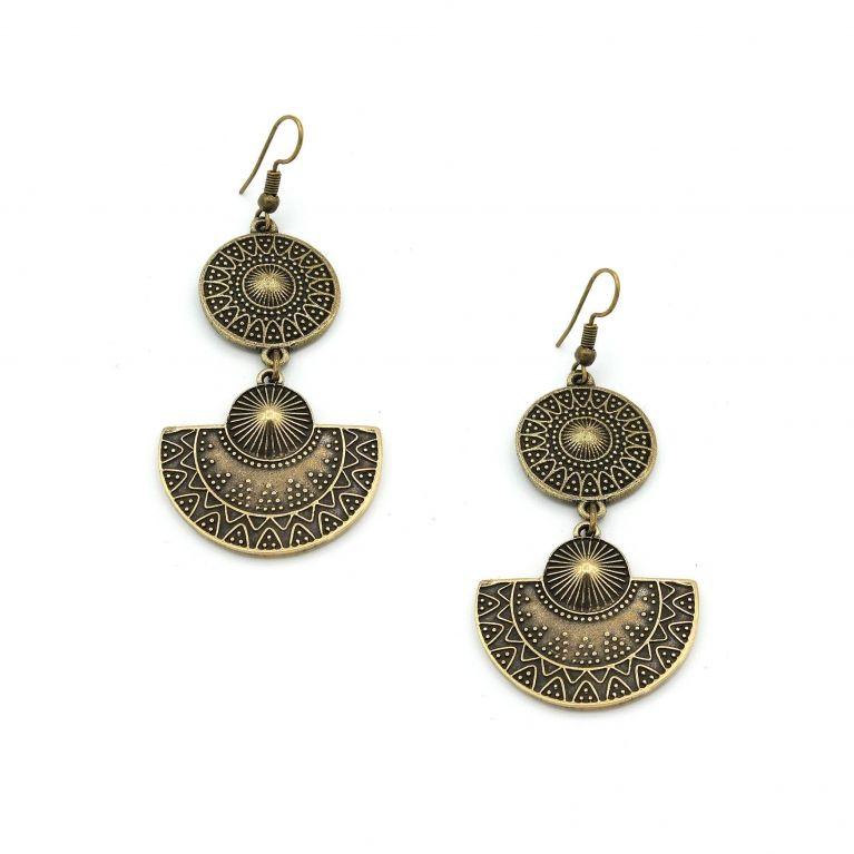 Серьги Лантана (античное золото)