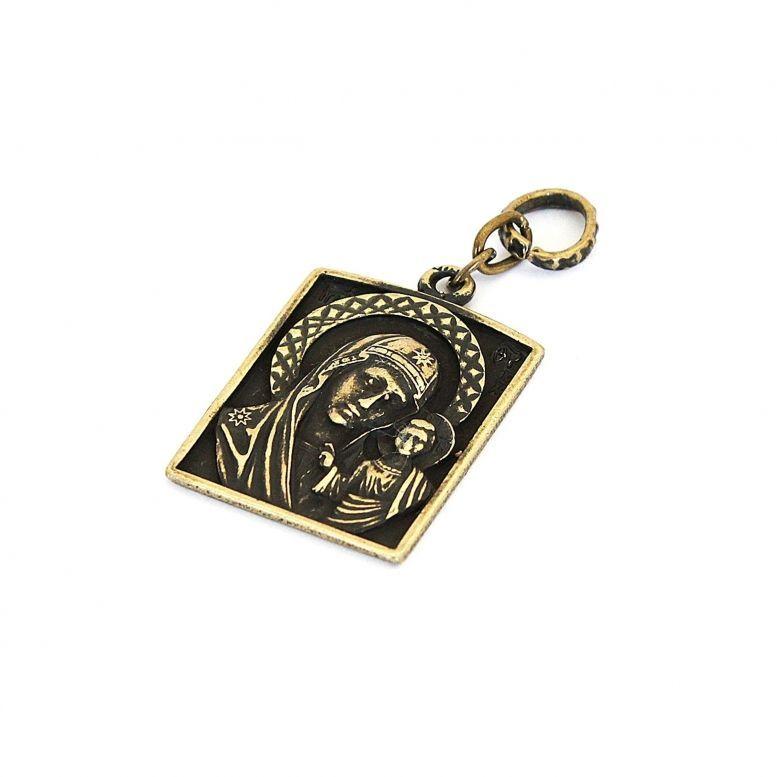 Кулон Казанской Божией Матери (бронза)