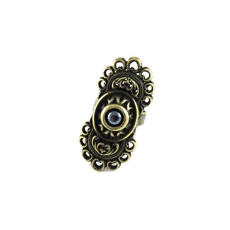 Кольцо Романия (гематит, бронза)
