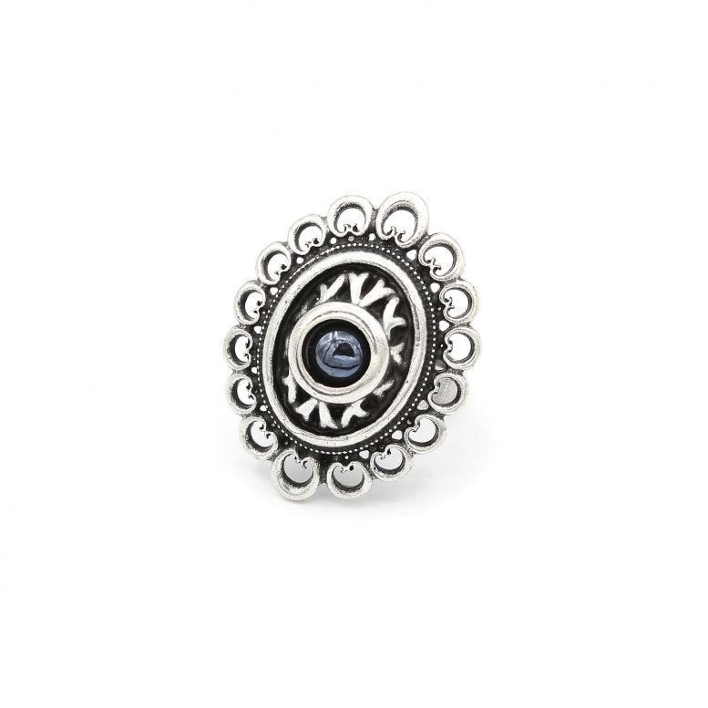 Кольцо Романия Ажур (гематит)