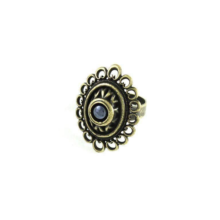 Кольцо Романия Ажур (гематит, бронза)