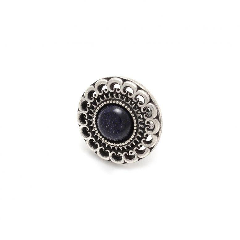 Кольцо Феофания серебро (авантюрин)
