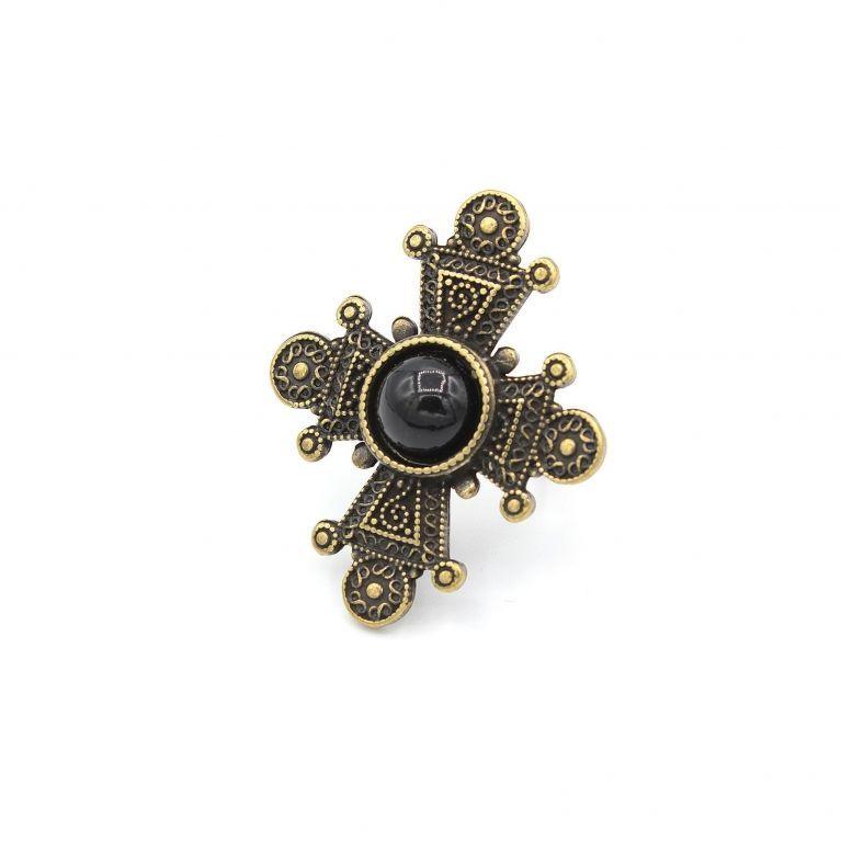 Кольцо Таксис бронза (агат)