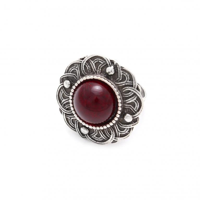 Кольцо Безанта  (рубин)