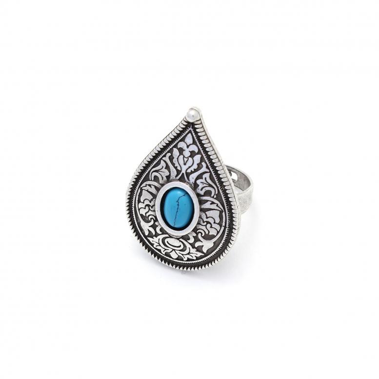 Кольцо Крина бирюза серебро