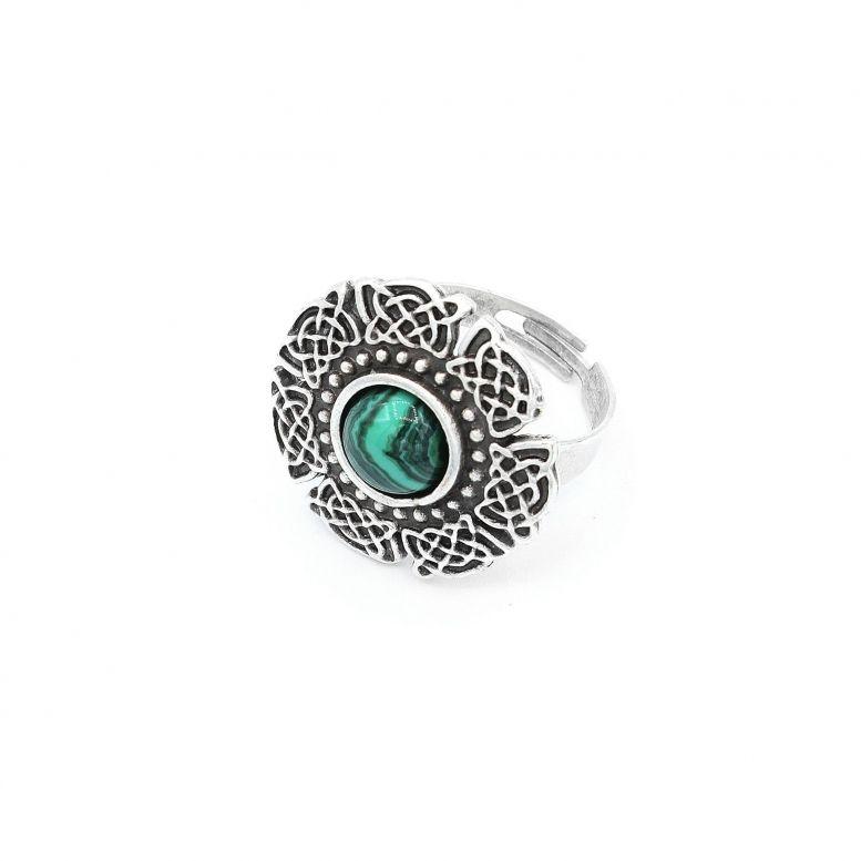 Кольцо Оранта, малахит