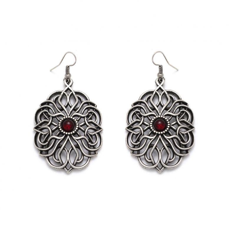 Серьги Вифиния серебро (рубин)