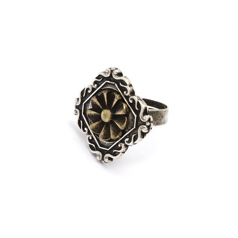 Кольцо Анфилада (вставка - бронза)