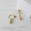 Сережки Невесомые капельки gold 925