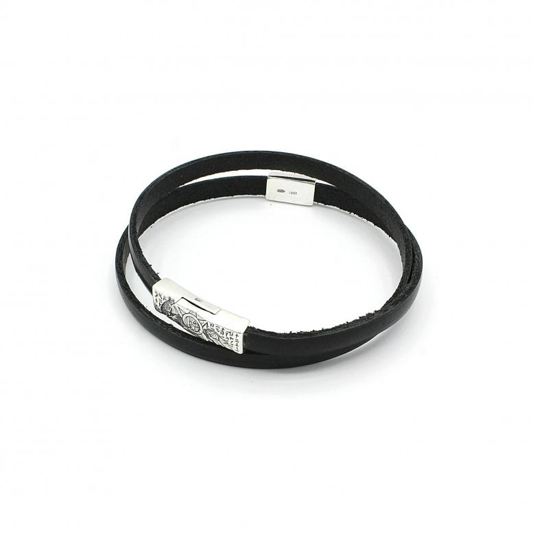 Браслет-намотка Plus Ultra MW black 17р 925