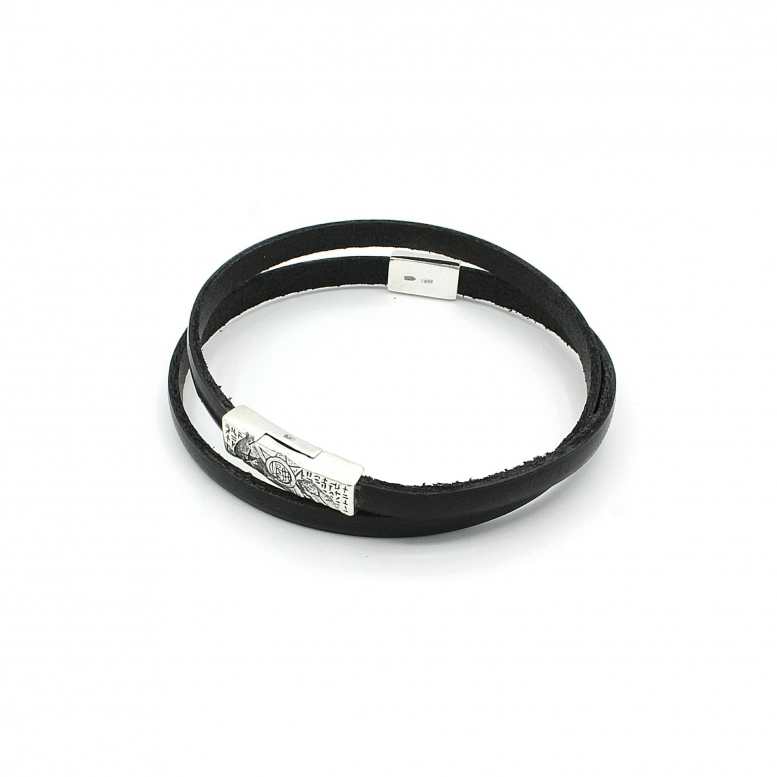 Браслет-намотка Plus Ultra MW black 20р 925
