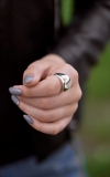 Кольцо Капля разъмное 925