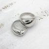 Кольцо Капля midi rhodium 925
