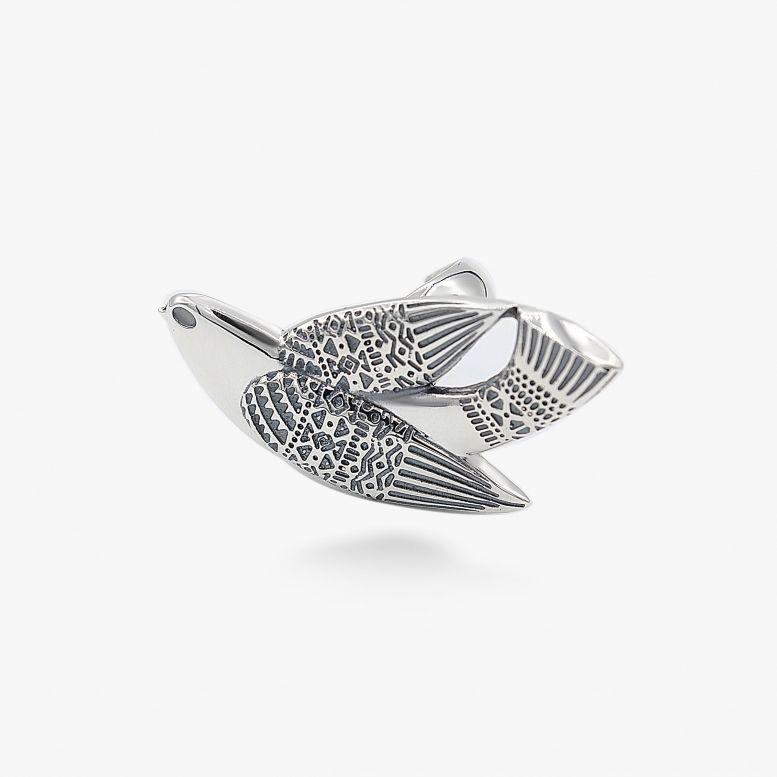 Кольцо Птаха 925 р.16,5-19