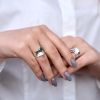 Кольцо Цефеида emerald 6мм 925