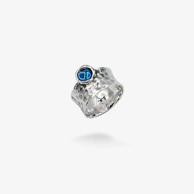 Кольцо Цефеида dark aquamarine 6мм 925