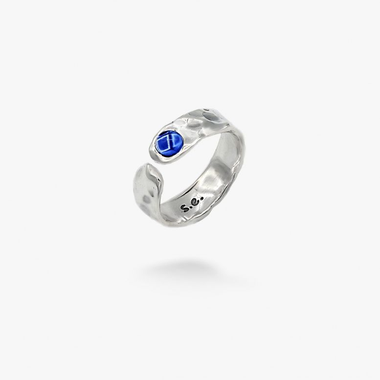 Кольцо Цефеида sapphiret 4мм 925