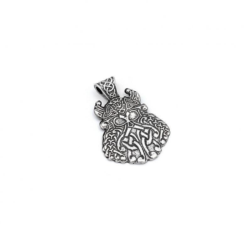 Амулет Борода Вікінга метал колір срібло