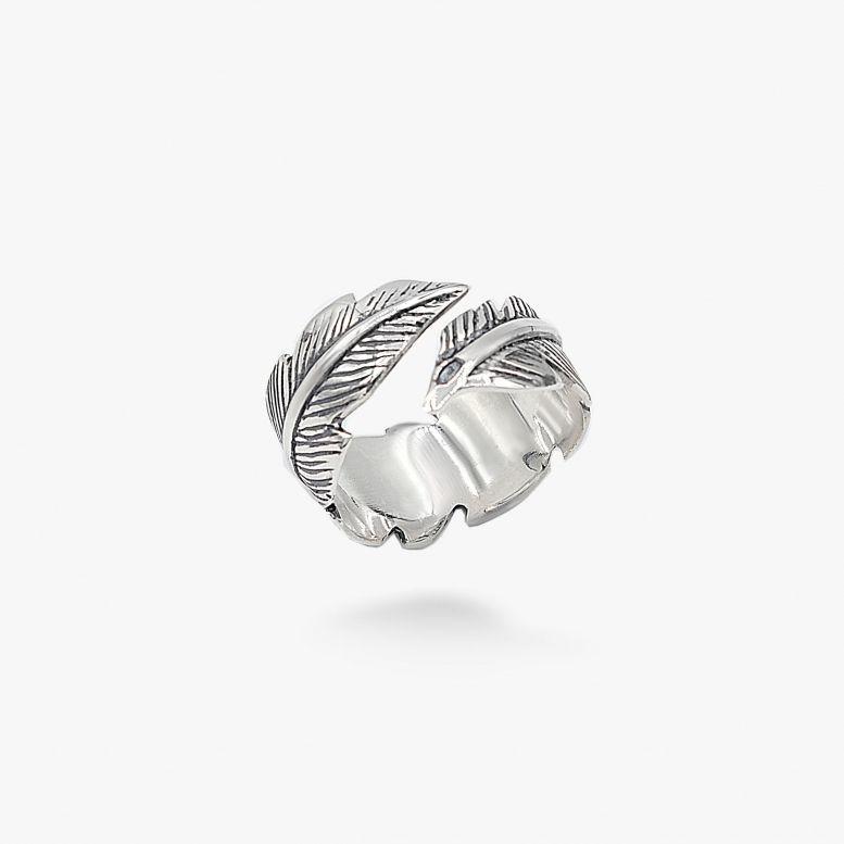 Кольцо Белое перо 925 17-19 р