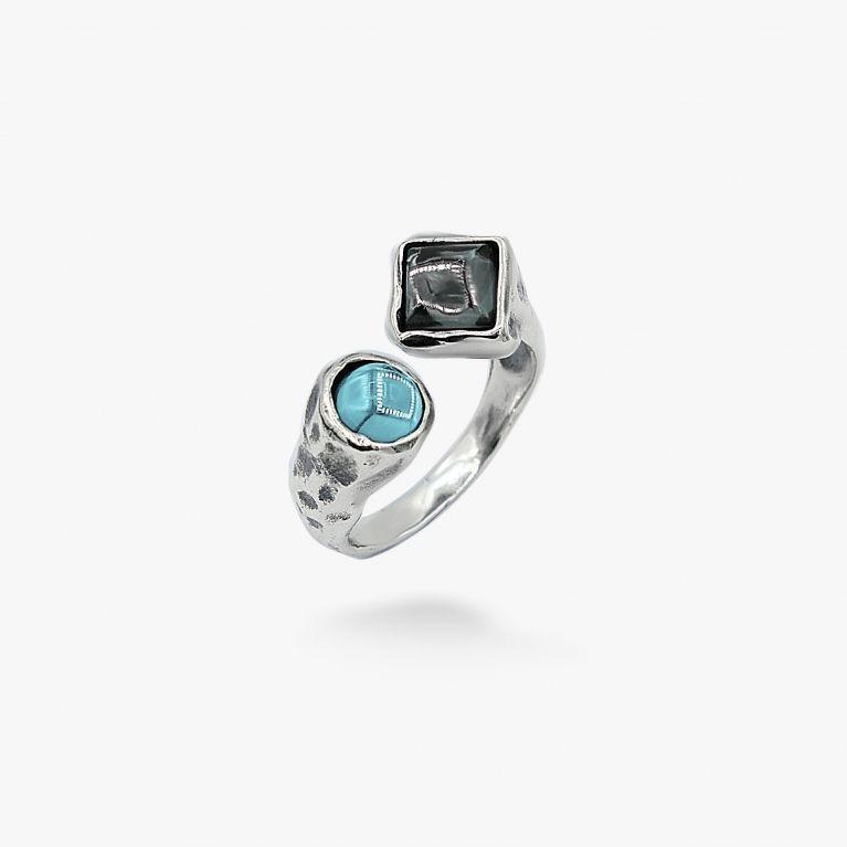Кольцо Лириды Indicolite 925