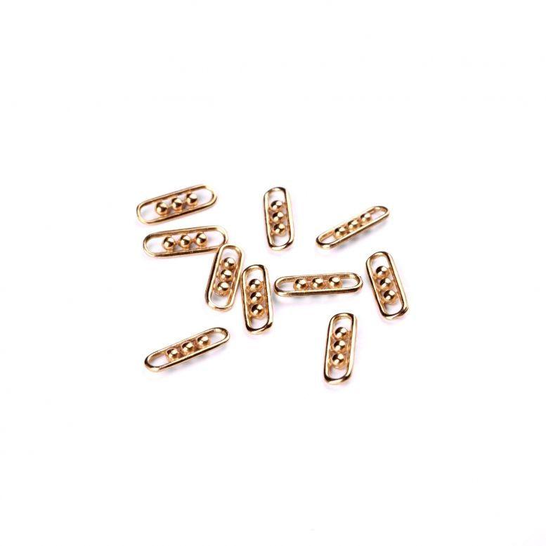 Коннектор-6 Трио, 18 * 6 мм, 10 шт (золото)