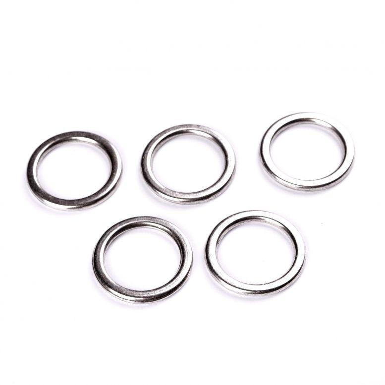 Коннектор Кольцо, 31 мм, 5 шт (серебро)