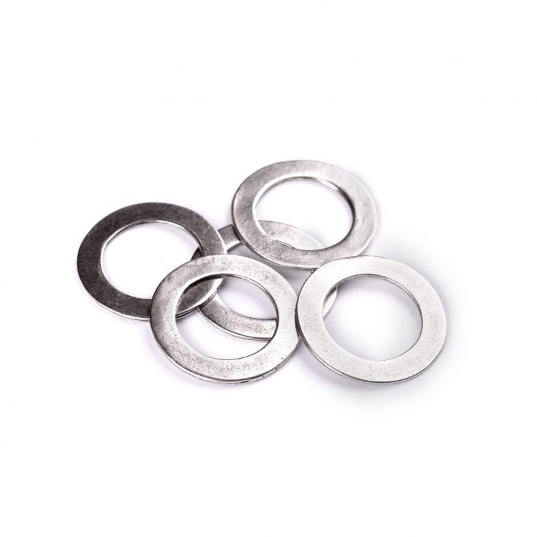 Коннектор Кольцо 27 мм, 5 шт (серебро)
