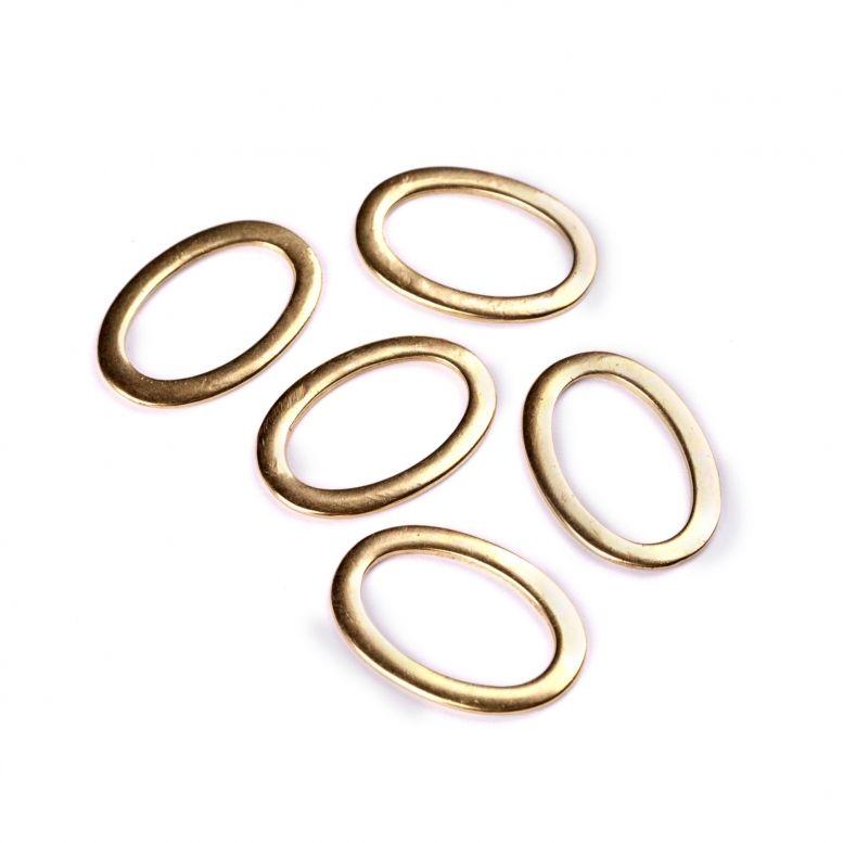 Коннектор Овал, 25 * 35 мм, 5 шт (золото)