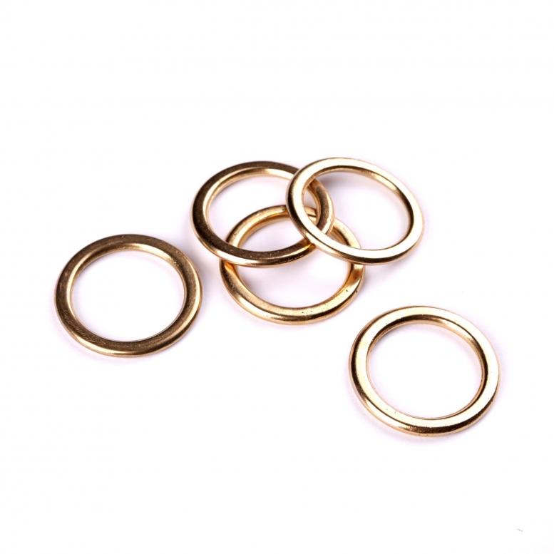 Коннектор Кольцо, 31 мм, 5 шт (золото)