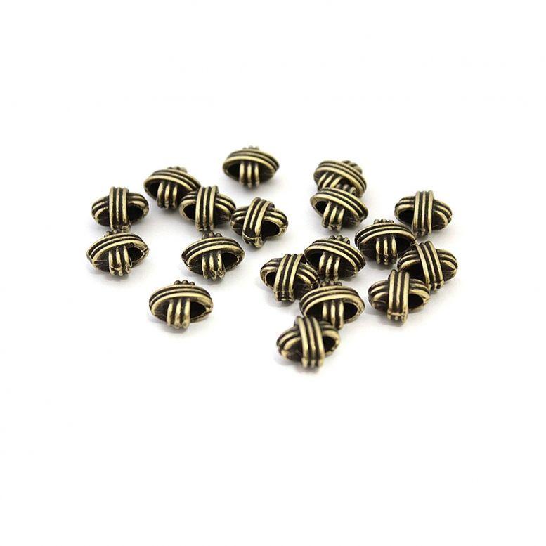 Бусина металлическая лента (бронза), 50 шт