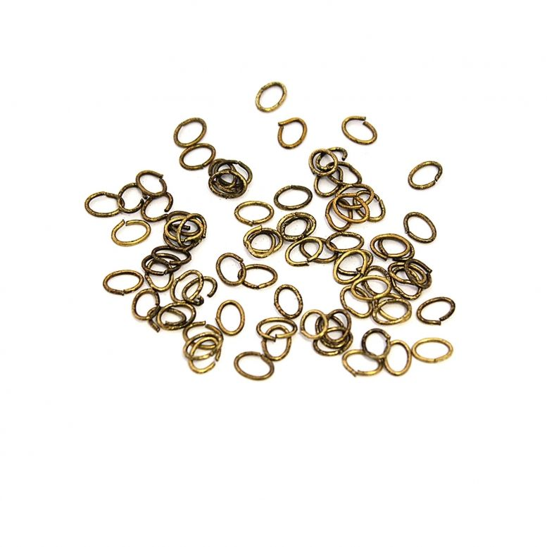 Соединительное звено  (золото с чернением) 100 шт